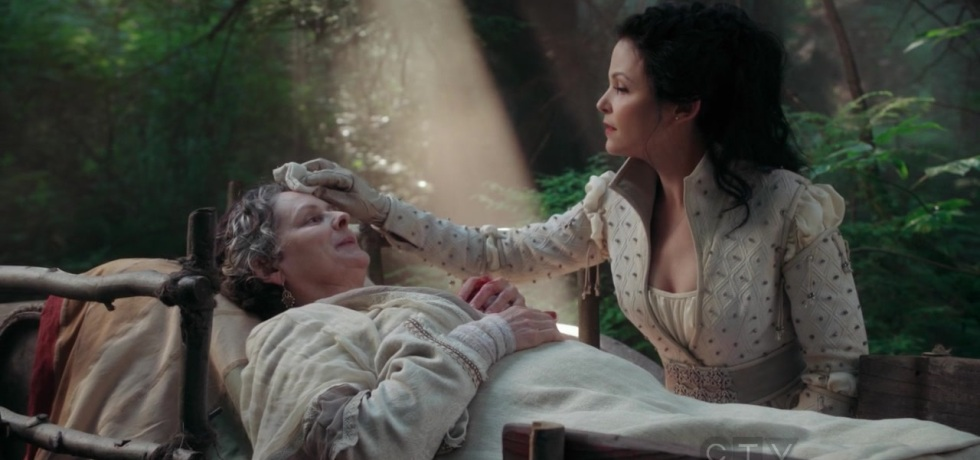 Snow tends to Charming's mother