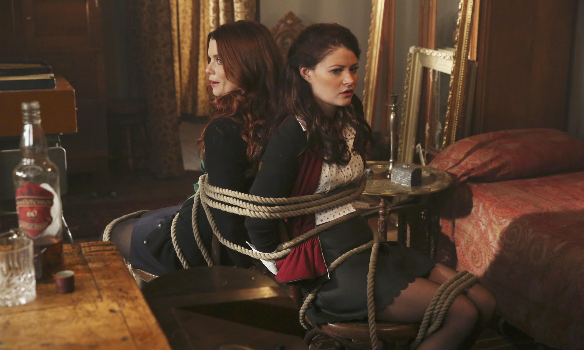 Belle and Ariel find themselves captured in Storybrooke
