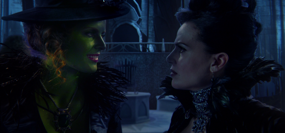 Zelena and Regina stare into each other's eyes